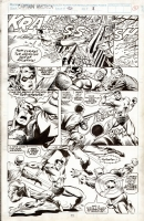 Captain America #423 p08 (Cap vs. Sub-Mariner) Comic Art