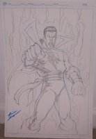 Shazam Con Sketch by Kevin Sharpe Comic Art