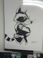 Brad Walker - Rocket Raccoon Comic Art