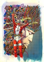 Machine Man trade cover, Comic Art