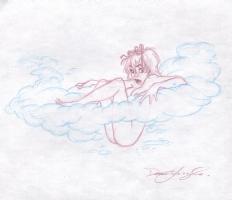 Mandy in the Cloud Comic Art