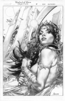 Dejah Thoris Warlord of Mars Cover #37 Comic Art
