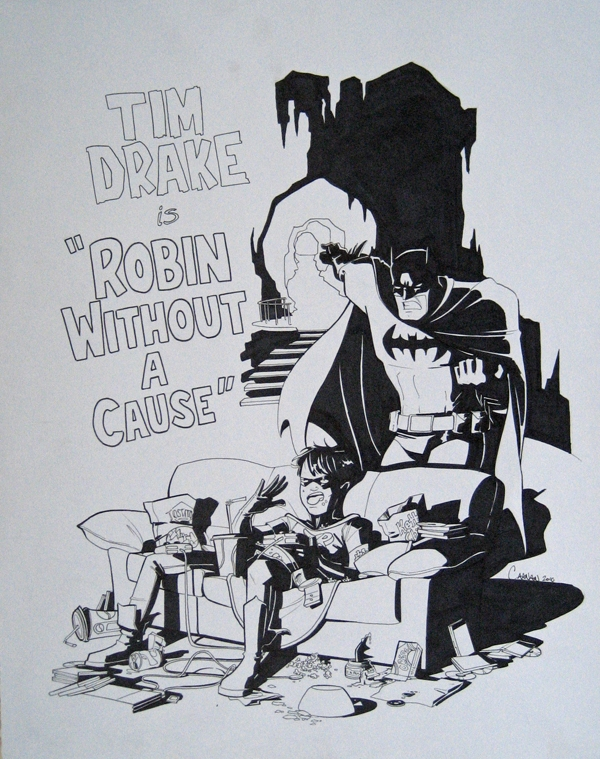 Robin Without a Cause - Caanan Grall Comic Art