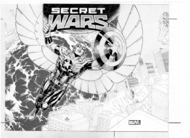 Hot Wheels Marvel Secret Wars Box Art, Comic Art
