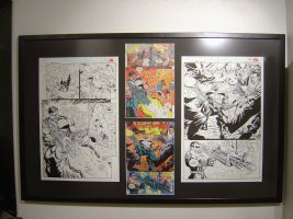 Punisher War Zone #21 Pgs. 16 & 18 Framed Comic Art