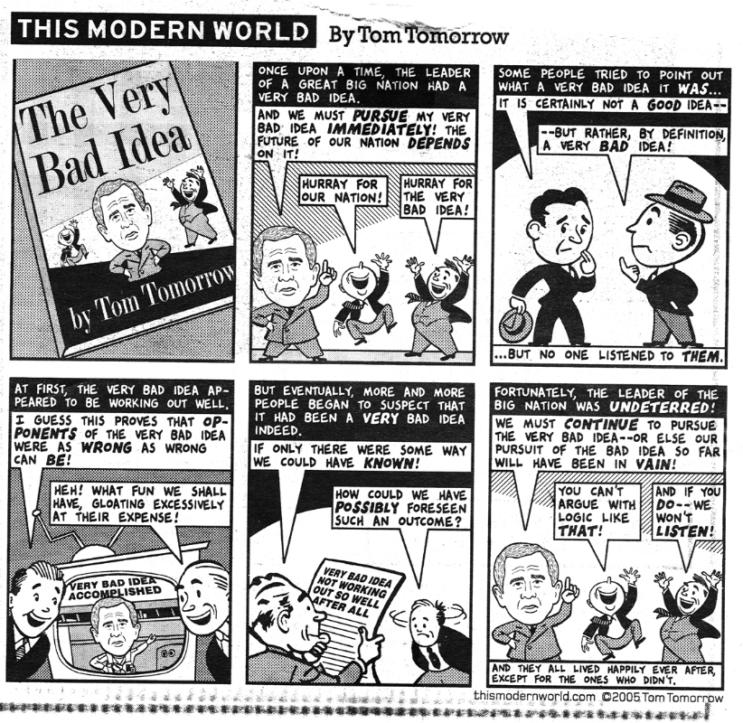 Tom Tomorrow (2005) / The Very Bad Idea Comic Art