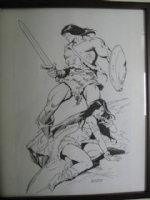 Conan Commision with Belit Comic Art