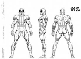 Batroc style sheet Comic Art