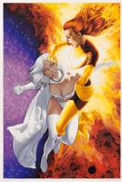 Emma Frost & Dark Phoenix Comic Art