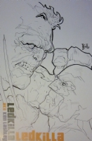 Ken Lashley - Hulk vs Wolverine Convention Sketch Comic Art