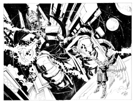 Galactus vs. Odin Final Comic Art