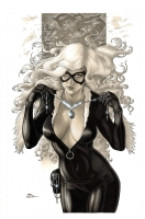 Aype Beven Black Cat Comic Art