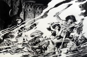 Mark Schultz The Colossal Conan Cover, Comic Art