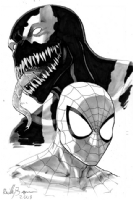 Spidey and Venom Comic Art