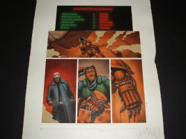 2000AD Judge Dredd Hammerstein - Jason Brashill Comic Art