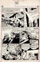 Schwartz/Kane/Paris Batman and Robin Detective 169 Page (1951) Comic Art