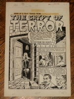 Feldstein splash page to first Crypt Keeper story (EC) Comic Art