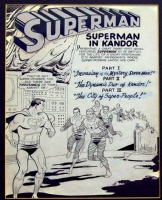 Swan / Klein Superman 158 page 1 splash (1963) Comic Art
