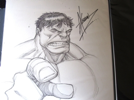 Dale Keown Hulk Sketch Comic Art