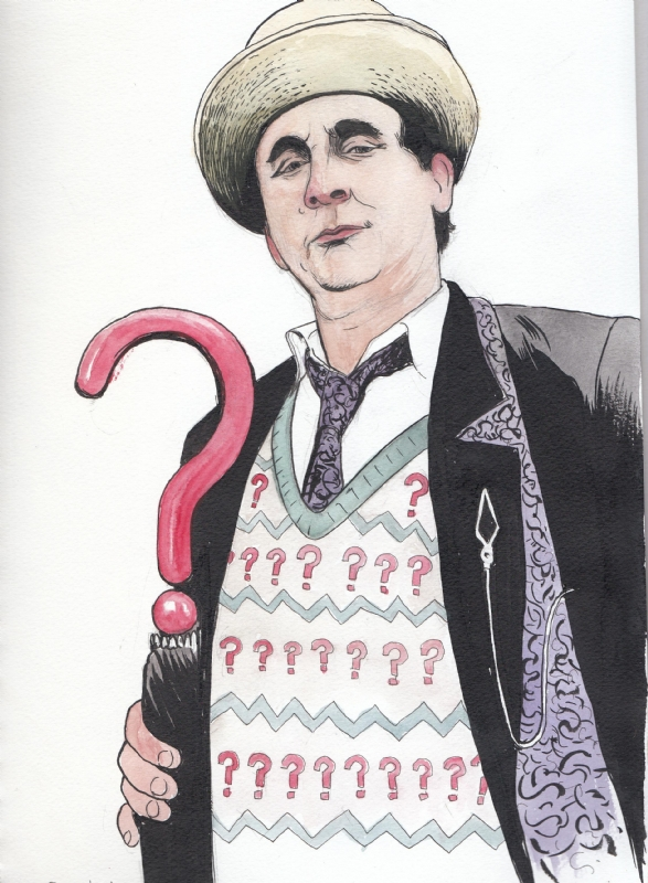 Seventh Doctor (Doctor Who) by Farel Dalrymple Comic Art