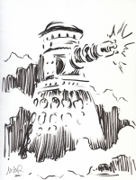 Special Weapons Dalek from  Rememberance of the Daleks  (Doctor Who) by Mike Roll Comic Art