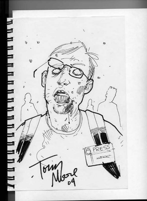 Zack Smith (Me) as a Zombie by Tony Moore Comic Art