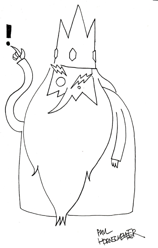 Ice King (Adventure Time) by Paul Hornschemeier Comic Art