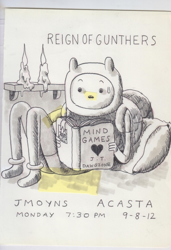 Adventure Time  Reign of Gunthers/Gunters  Pre-Show Drawing by Jesse Moynihan Comic Art