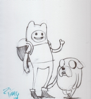 Jake the Dog and Finn the Human (Adventure Time) by Timothy Weaver Comic Art
