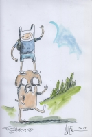 Finn and Jake (Adventure Time) by Ricardo Siri Liniers (Liniers) Comic Art