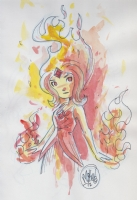 *UPDATED* Flame Princess (Adventure Time) by Mike Maihack Comic Art