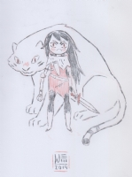 Shoko and Tiger (Adventure Time) by Jake Wyatt Comic Art