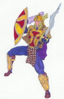 Armor of God - Female Comic Art