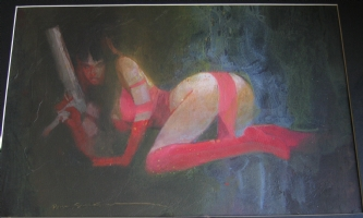 bill sienkiewicz elektra illustration Comic Art