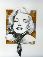 marilyn monroe sergio toppi Comic Art