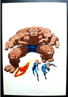 Rafael L�pez Esp�: Cover LOS 4 FANTASTICOS Vertice Vol. 1 n�34 (Fantastic Four) Comic Art