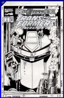 ***10 Year Anniversary on CAF***  Transformers: Generation 2 # 1 Cover Comic Art