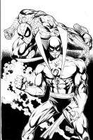 spiderman & ironfist Comic Art
