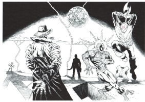 freddy vs michael myers & spidey vs jason Comic Art