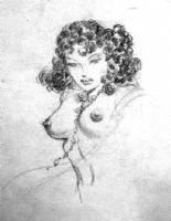 Frank Frazetta nude sketch Comic Art