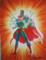 Alex Ross Superman painting Comic Art