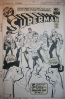 Superman #337 cover Comic Art