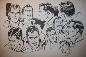 Curt Swan Superman model sheet Comic Art