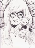 Black Cat Comic Art