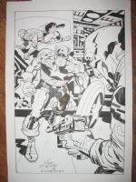 Red Skull , Captain America and Bucky Comic Art