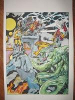 Jack Kirby Sci-fi epic scene Comic Art