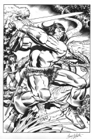 Conan ! Art of Inking Published page Gary Martin over Jack Kirby  Comic Art