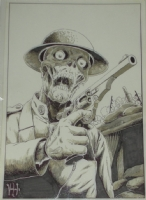 Zombie Soldier Comic Art