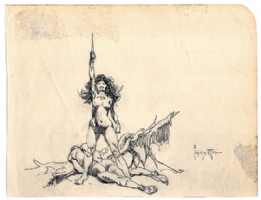 Frazetta Dejah Thoris Comic Art