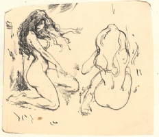 Frazetta 2 Female Nudes Comic Art